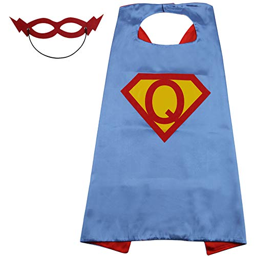 Superman Outfit Boys Superhero Costume Kids Super Gift Toddler Capes for Child Superhero Blue]()