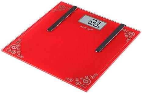 Korona Dina - Báscula de baño con indice de grasa corporal: Amazon.es: Salud y cuidado personal
