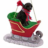 Portuguese Water Dog Sleigh Ride Christmas Ornament - DELIGHTFUL! by Conversation Concepts