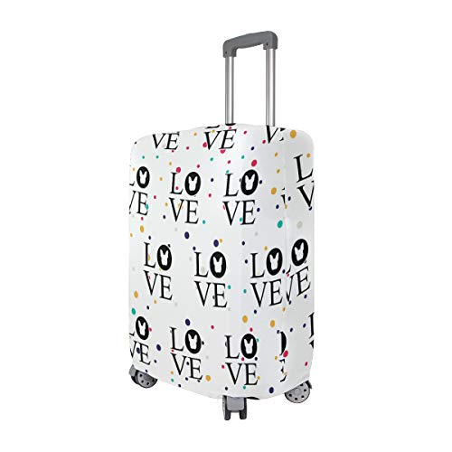 Bulldog Love Travel Luggage Cover - Suitcase Protector HLive Spandex Dust Proof Covers with Zipper, Fits 18-32 inch by HLive (Image #1)