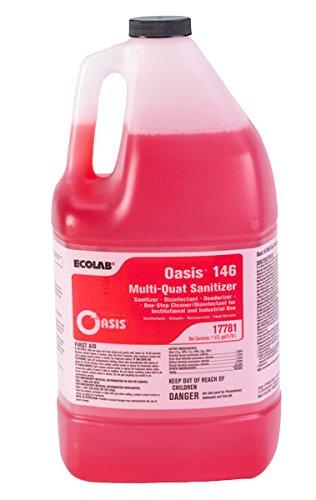 ECOLAB 6117781 Oasis 146 Multi-Quat SANITIZER Disinfectant Deodorizer Cleaner - One (1) Gallon/Bottle per Order
