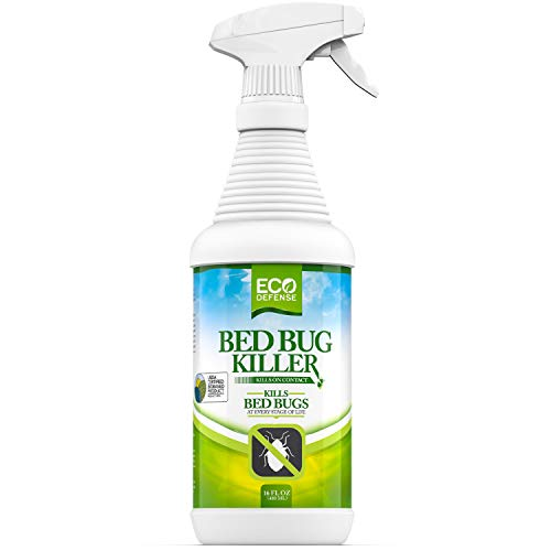 Eco Defense Bed Bug Killer, Natural Organic Formula Fastest, 16 oz. (Best Diatomaceous Earth For Bed Bugs)