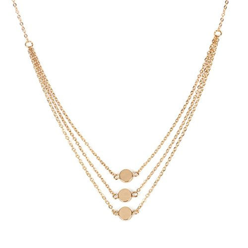 - IEason NEW Fashion Women Multilayer Alloy Pendant Necklace Chain Jewelry (Gold)