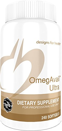 Designs for Health - OmegAvail Ultra - 1200mg, EPA + DHA Triglyceride (TG) Fish Oil, 240 Softgels by designs for health
