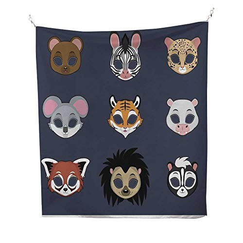 25 Home Decor Tapestries for Bedroom Animal mask Set 2 for Halloween and Various Festivities Wall Tapestries for Bedroom 60W x 80L INCH