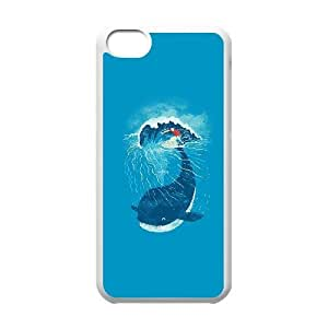 iPhone 5c Cell Phone Case White ah84 whale wave animal illust art sea JNR2039862