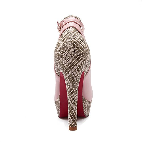 Corte para Mujer Hebillas con MMS03193 Plataforma Desconocido Hebilla Rosado Metal de de bajo 1TO9 de 7xaWqTw