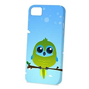 TYHH - Case Fun Apple iPhone 5/5s Case - Vogue Version - 3D Full Wrap - Turquoise Parrot by DevilleART ending phone case