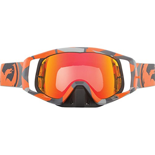 Dragon Alliance Ornge Flair with 10 Packs Tear Off Unisex Vendetta Off-Road Goggles Eyewear, Red Ionized, One Size (Dragon Vendetta Goggles)