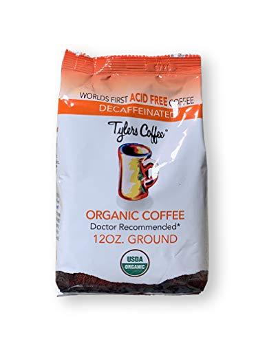 Tylers AcidFree Organic Coffee, Decaf Ground, 12oz