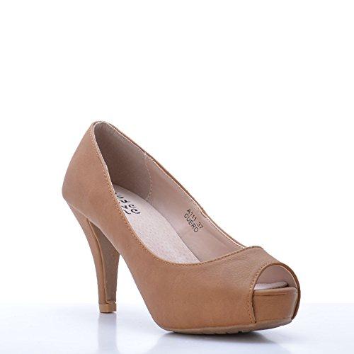 Peep Camel Altamoda Toe Lounge Shoes wOP0kn