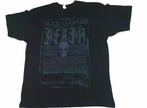 2009 Alice Cooper Theatre of Death Concert T Shirt Large