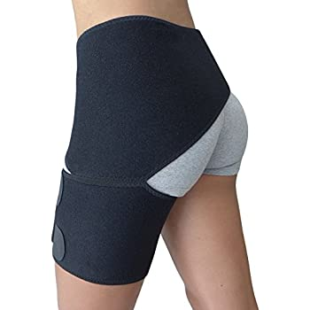 2dca624733 Hip Brace - Groin Support for Sciatica Pain Relief Thigh Hamstring  Quadriceps Hip Arthritis - Best