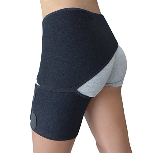 Hip Protector (Hip Brace - Groin Support for Sciatica Pain Relief Thigh Hamstring Quadriceps Hip Arthritis - Best Compression Groin Wrap for Pulled Muscles Hip Flexor Joint Pain - Sciatica Brace SI Belt Men Women)