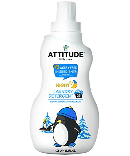 ATTITUDE Little Ones, Hypoallergenic Laundry Detergent, Soothing Chamomile, 35.5 Fluid Ounce, 35 Loads (Attitude Baby Detergent)