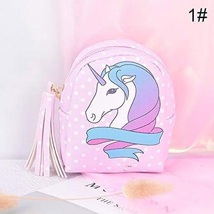 RQWY Monedero con diseño de Unicornio de Dibujos Animados ...