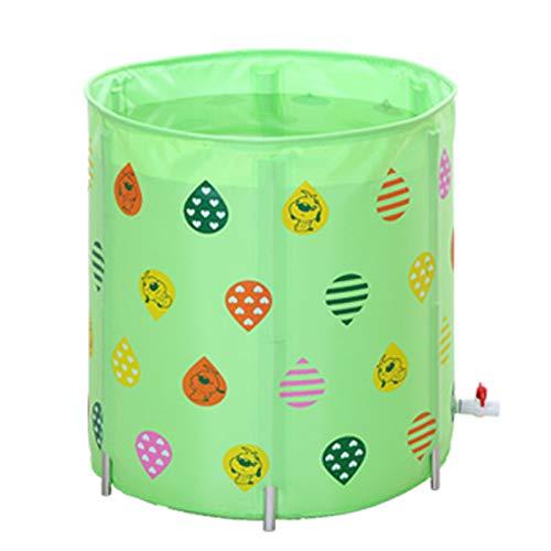 【在庫有】 Bathtub調節可能断熱材Folding Bathバレルインフレータブル大人用プラスチックポータブルTub Deep Soaking Bathバレル7070 Soaking グリーン CM Deep グリーン B07G736K8Y, カイヅカシ:d33bfd49 --- 4x4.lt
