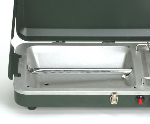 Stansport High Output 10,000 BTU Propane Stove and Grill Combo with Piezo Igniter, Black by Stansport (Image #1)