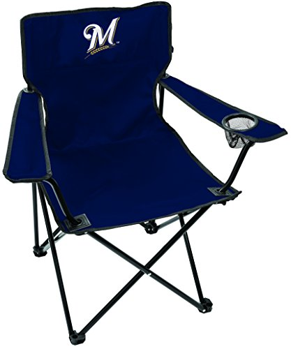 Rawlings MLB Gameday Elite Lightweight Folding Tailgating Chair, with Carrying Case, Milwaukee Brewers