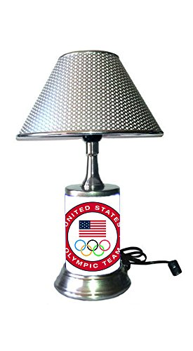- US Olympic Team Logo Lamp with Chrome Colored Shade
