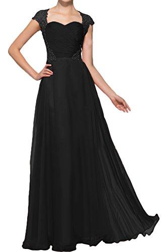 para mujer trapecio Topkleider negro Vestido nOfORxE