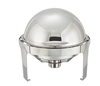 Winco Winware Round Roll Chafing Dish