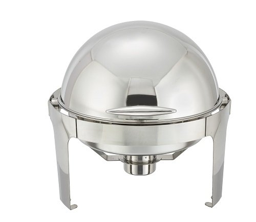 Winware 6 Quart Stainless Steel Round Roll Top Chafer by Winware