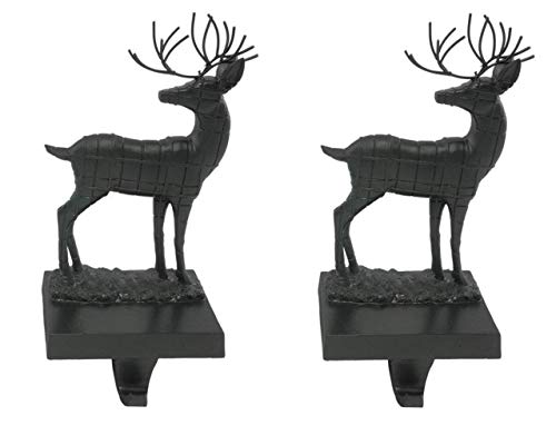 (Party Explosions Reindeer Christmas Stocking Holders - Set of 2 (Black))
