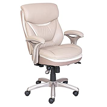 Serta Smart Layers Verona Manager Chair, Ivory/Champagne