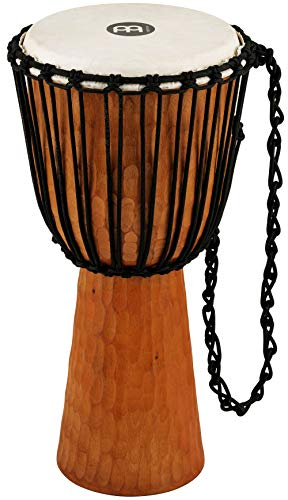 (Meinl Percussion Djembe with Mahogany Wood-NOT Made in CHINA-12 Large Size Rope Tuned Goat Skin Head, 2-Year Warranty, Brown, 12