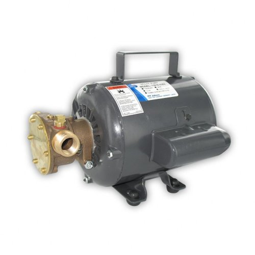 Open Impeller - Jabsco 11810-0003 Marine Series General Purpose Utility Pump (Nitrile Impeller, Open Drip Proof Motor Non CE, 115-Volt, 1/2