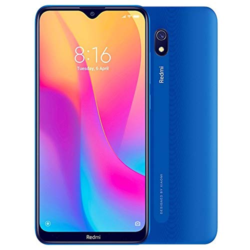 "Xiaomi Redmi 8A (32GB, 2GB RAM) 6.22"" HD Display, Snapdragon 439, Dual SIM GSM Unlocked - US & Global 4G LTE International Version (Ocean Blue)"