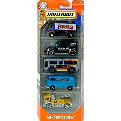 Matchbox 2020 MBX Service Crew 5-Pack (2009 International Estar, Ford Transit Connect, City Bus, VW Delivery Van, Urban Tow Truck): Toys & Games