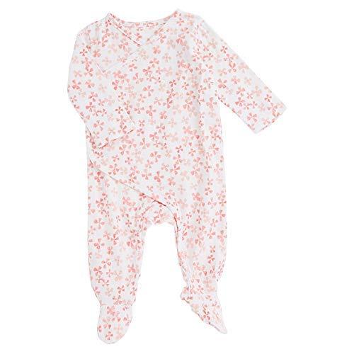 aden + anais Baby Long Sleeve Kimono One-Piece, Blossom, 3-6M