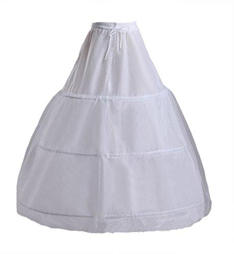 Fanhao 6 hoops skirt wedding dress bridal petticoat for Underwear under wedding dress