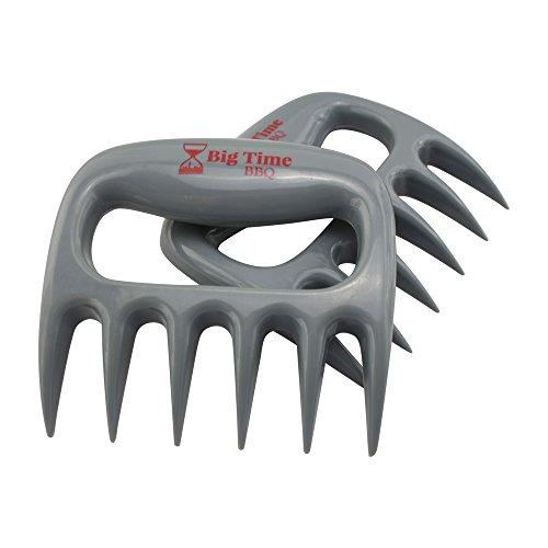 Big Time BBQ Meat Claws Pulled Pork Shredder Tool Made Tough For Shredding Handling and Carving Set of 2 Perfect For Transferring Your Turkey From The Roasting Pan To The Carving Plate (Big Turkey Pan compare prices)