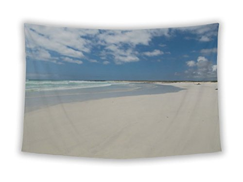 Wall Tapestry For Bedroom Hanging Art Decor College Dorm Bohemian, Tortuga Beach Galapagos Islands Ecuador, 80x68 80 Tortuga Art