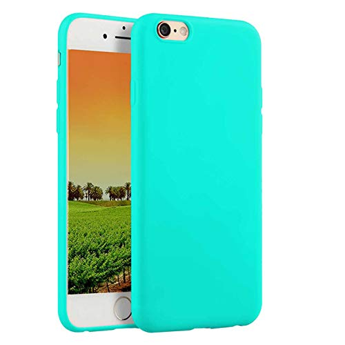 Compatible withiPhone 8 Case 2017,iPhone 7 Case 2016, Thin Slim Fit Soft TPU Rubber Durable Anti-Scratch Shock-Absorption Resistant Shield Bumper Shell Shockproof Protective Mobile Phone Cover,Teal (Lunatic Mods)