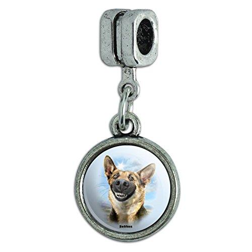 GRAPHICS & MORE German Shepherd Dog Selfie Italian European Style Bracelet Charm Bead