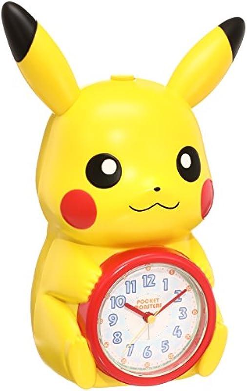세이코 clock 자명종 포켓 몬스터 피카츄 캐릭터형 수다쟁이(수다스러움) 알람 아날로그 JF379A SEIKO