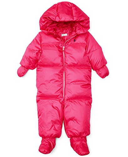 Ralph Lauren Baby Girls Hooded Down Snowsuit (3 Months, - Online Outlet Lauren Ralph
