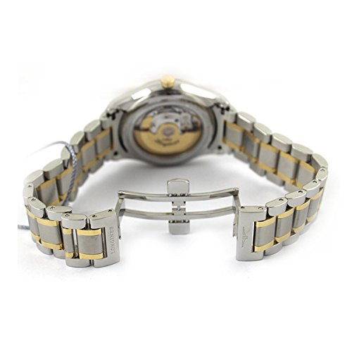Amazon.com: Master Collection L2.755.5.77.7 18K Gold and Stainless Steel Diamond Marker Transp Case Back Mens: Longines: Watches