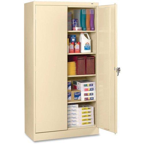 Tennsco 7224 24 Gauge Steel Standard Welded Storage Cabinet, 4 Shelves, 200 lbs Capacity per Shelf, 36'' Width x 72'' Height x 24'' Depth, Putty by Tennsco