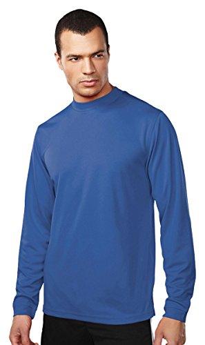 (Tri-Mountain Easy Care Polyester Turtleneck Shirt. 652)