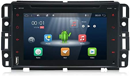 YUNTX Double Din Android 8.1 Car Navigation Stereo 2G 32G Octa-Core Applicable to GMC 7 inch with FREE Rear Camera,LCD Touchscreen,WiFi BT,SD Card,USB, Aux, AM FM Digital Multimedia Video Receiver