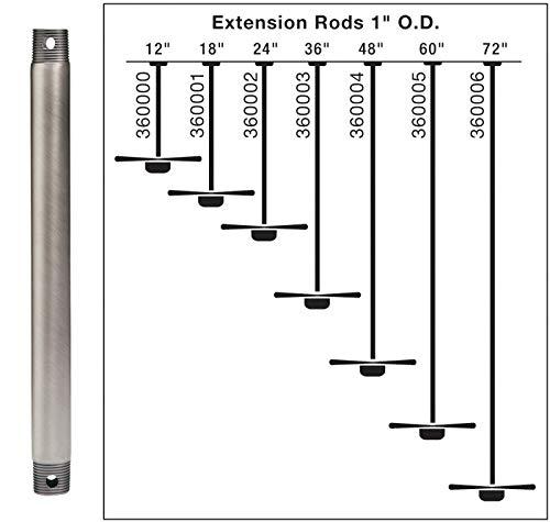 Kichler Lighting 360000CZ Accessory - Downrod, Downrod Options: Climate Downrod, Choose Finish: Carre Bronze