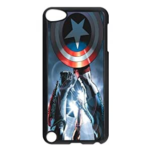 FOR Ipod Touch 5 -(DXJ PHONE CASE)-Super Hero Caption American-PATTERN 9