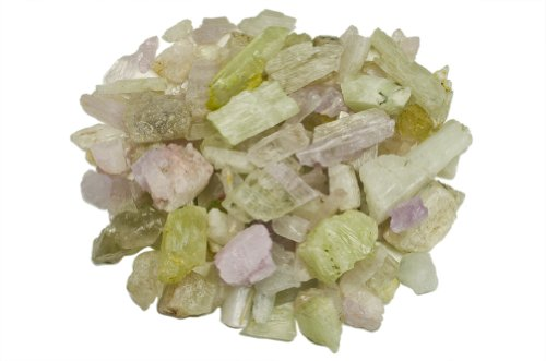 Hypnotic Gems Materials: 1 lb Rough Bulk Kunzite and Hiddenite Stones from Pakistan - Raw Natural Crystals for Cabbing, Tumbling, Lapidary, Polishing, Wire Wrapping, Wicca & Reiki Crystal Healing ()