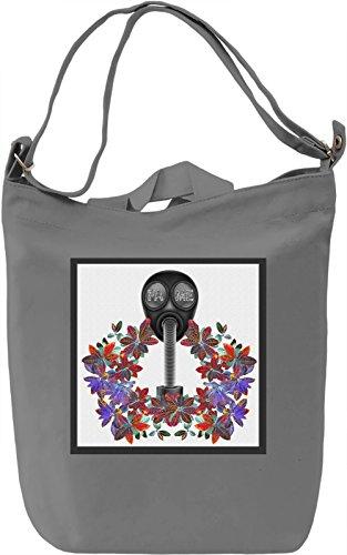 Flower Fame Borsa Giornaliera Canvas Canvas Day Bag| 100% Premium Cotton Canvas| DTG Printing|