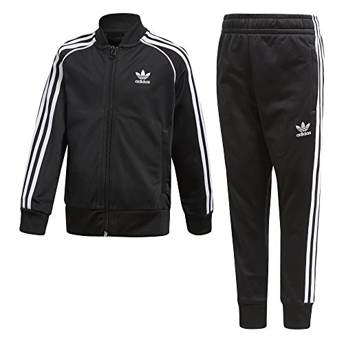 adidas Originals Boys' Big Originals Trefoil Superstar Tracksuit, Black, M